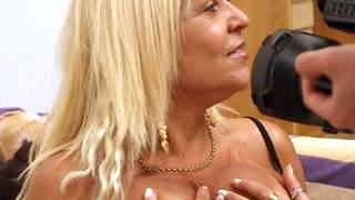 Hot mature blonde with big tits Barbara Blonde doing a hot striptease  Video