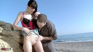 Sex at the beach - with Carol Vega! Video