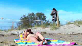 Redhead Anal fucking and  squirting  at the beach Video