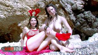 Santa Claus at the beach  Video