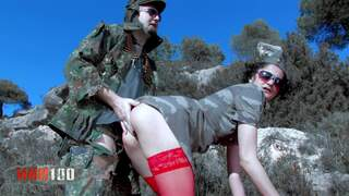 Hard fuck girl from french army Video