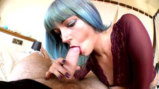 The delicious Stefani Tarrago giving an amazing blowjob.